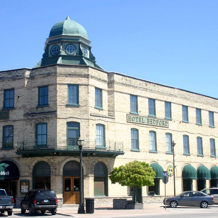 Hotel Bedford on the Square, Goderich, Ontario opened in 1896