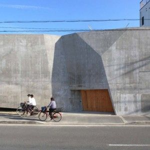 House S by Suga Atelier: Faceted Concrete, Suga Ate, Concrete Exterior, Concrete Houses, Archie Exterior, Architecture Inspiration, Entrance Doors, Deconstructiven Architecture, Ate Houses
