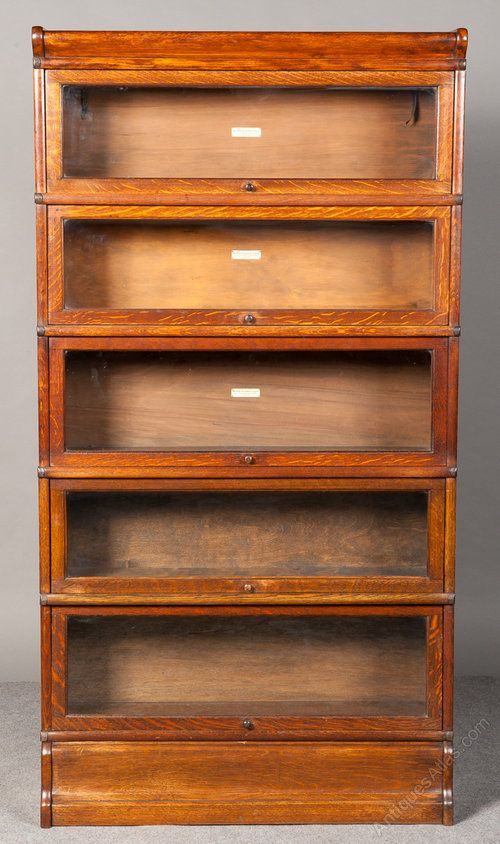 Golden Oak Globe Wernicke Bookcase