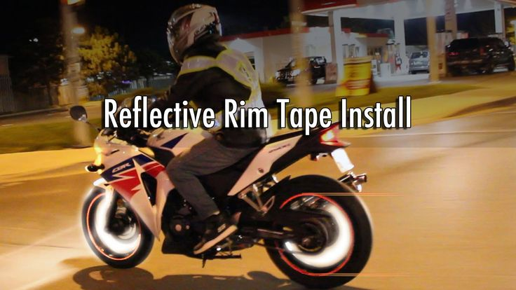 Motorcycle Rim Tape Installation & Night Test Ride without Applicator