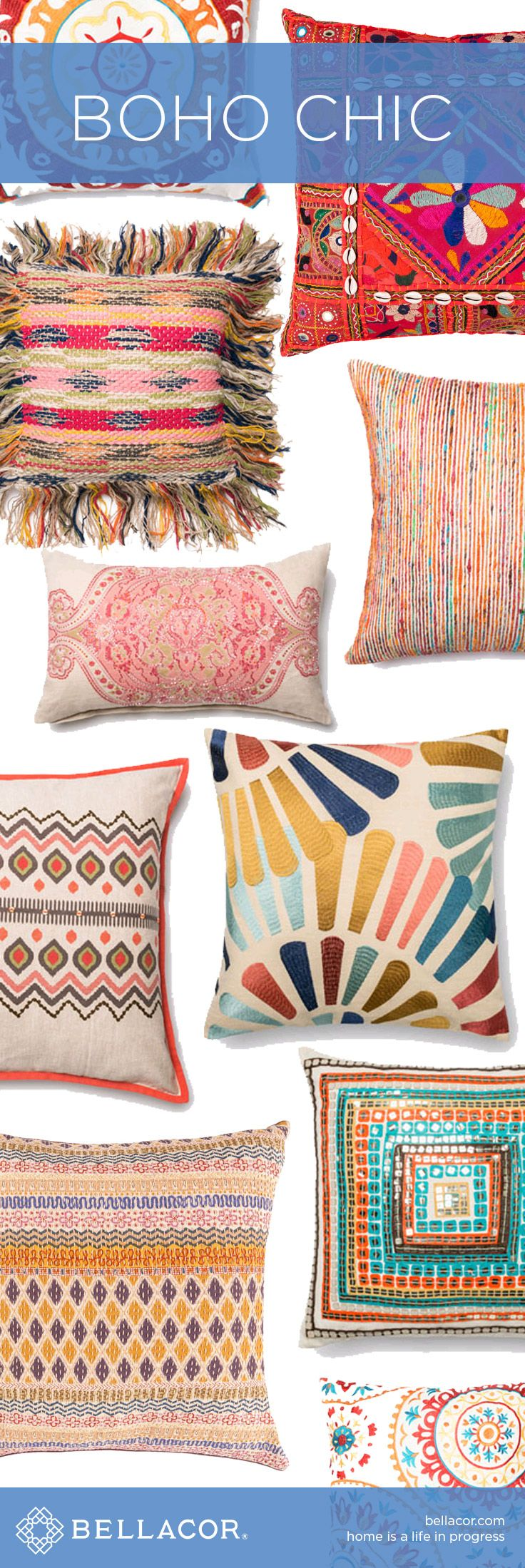 Shop our selection of Boho Chic Pillows, Bedding and Textiles at http://www.bellacor.com/