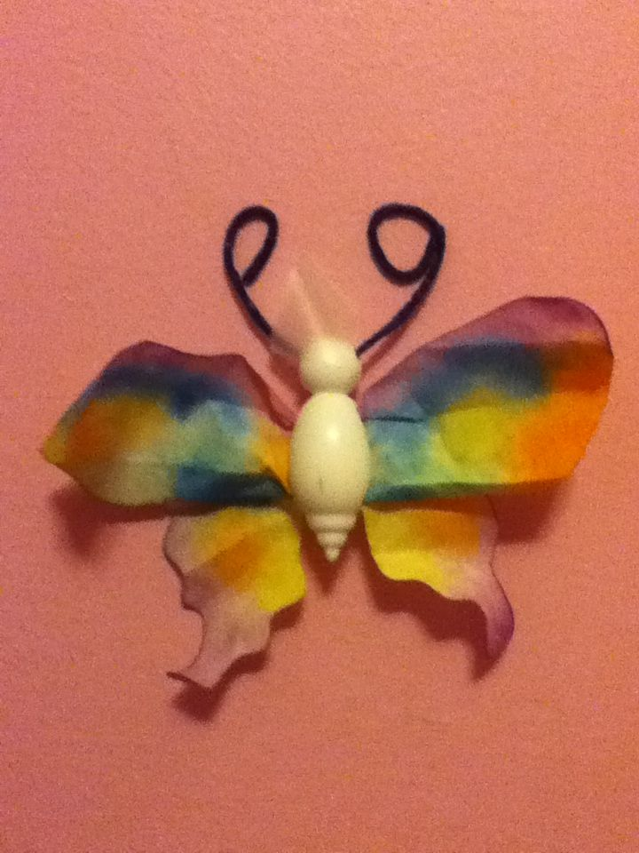Make a butter fly and tape it on your wall