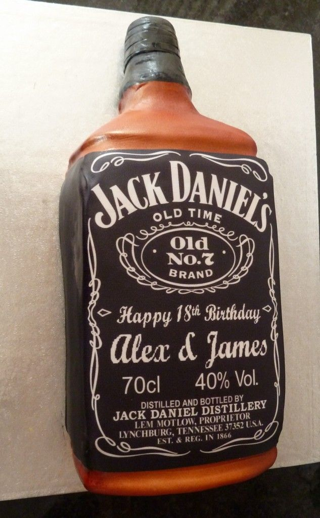Edible Jack Daniels Label For Cake