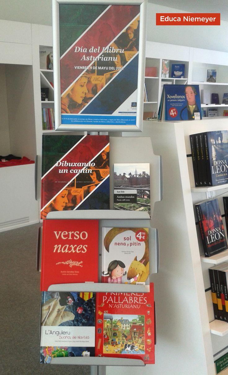 """Día del Llibru Asturianu nel Centro Niemeyer 10% descuentu na compra de llibros y regalu del llibru """"Dibuxando un camín"""""""
