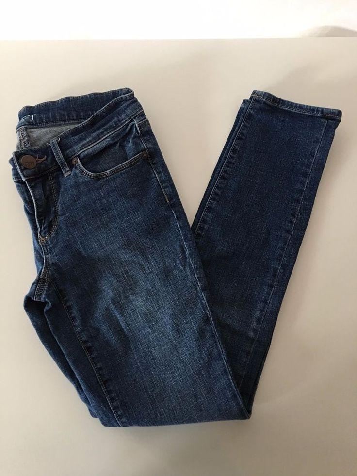 Ann Taylor LOFT Modern Skinny Women's Petite Jeans Straight GUC Sz 25 / 0P - 153 #AnnTaylorLOFT #SlimSkinny
