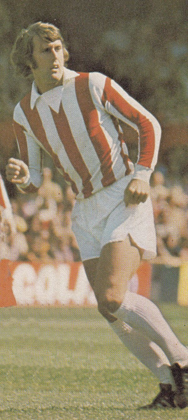 Circa 1973/74. Stoke City and England centre forward Geoff Hurst.