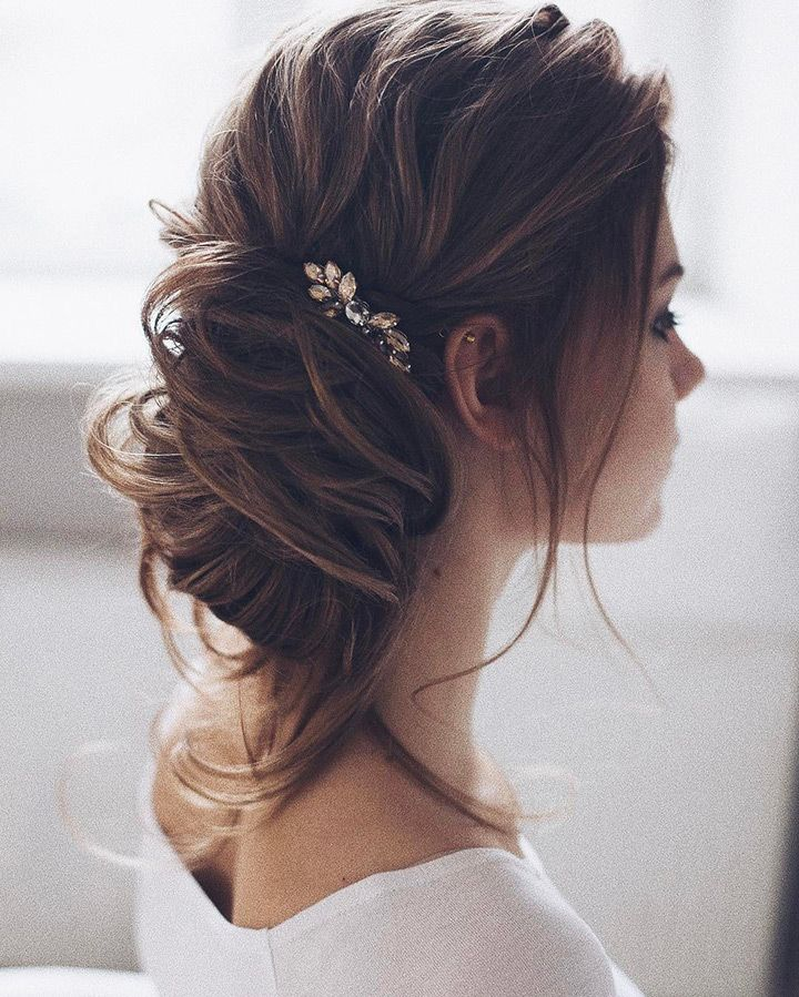 LOVE this sideswept twisted updo
