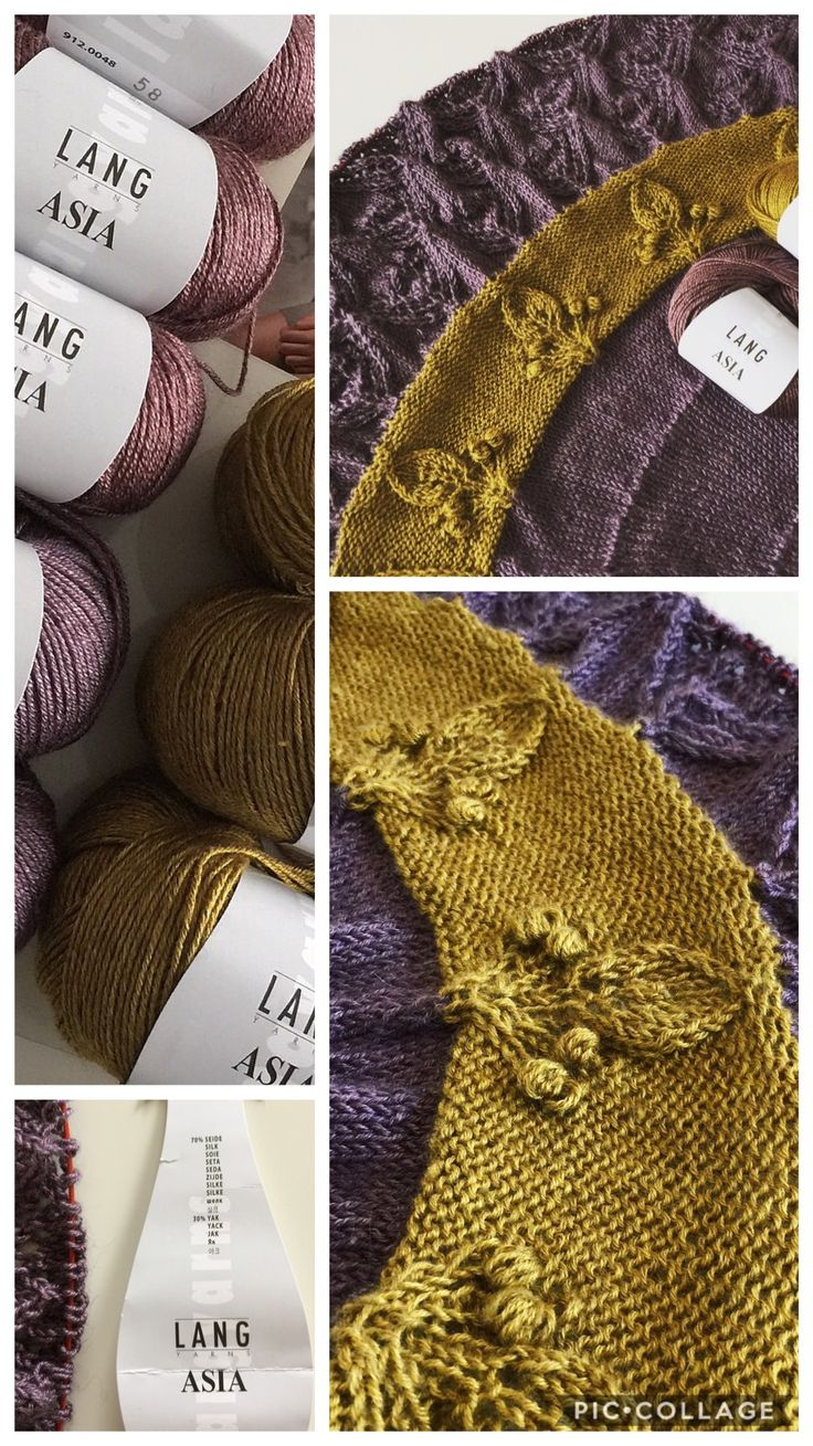 New shawl design by HELLE SLENTE DESIGN on the way | Lang Yarns ASIA | lace knitting | Ravelry pattern