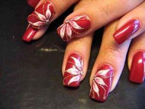 Uñas decoradas navideñas. | Cursos de uñas de gel, acrilicas y mas