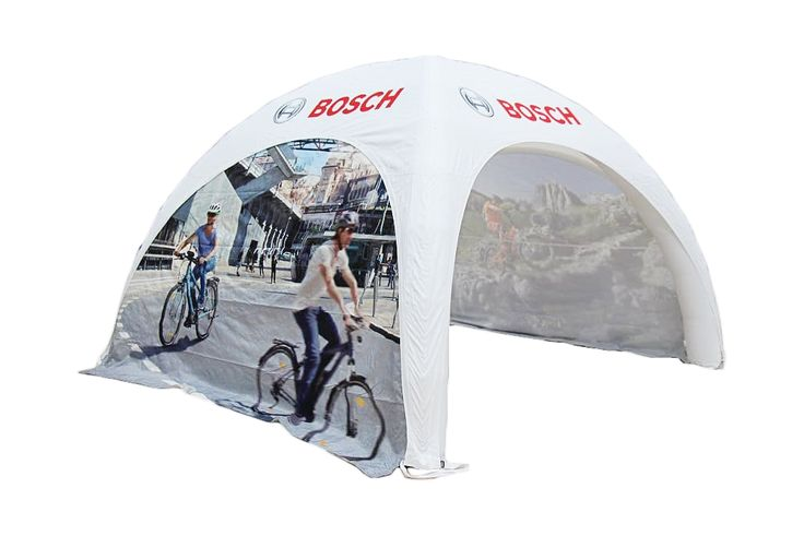 Inflatable marquee for Bosch. Right-side.