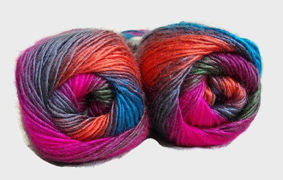 Multicolor yarn Rainbow yarn  knitting yarn by Yarnshopping