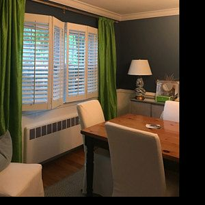 PLATINUM & WHITE silk curtain, dupioni silk, interior decor, window treatment, white, silver, gray