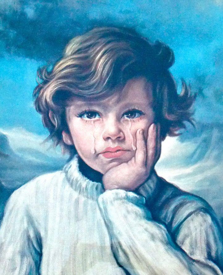 Открытка плачущий мальчик, днем рождения сына