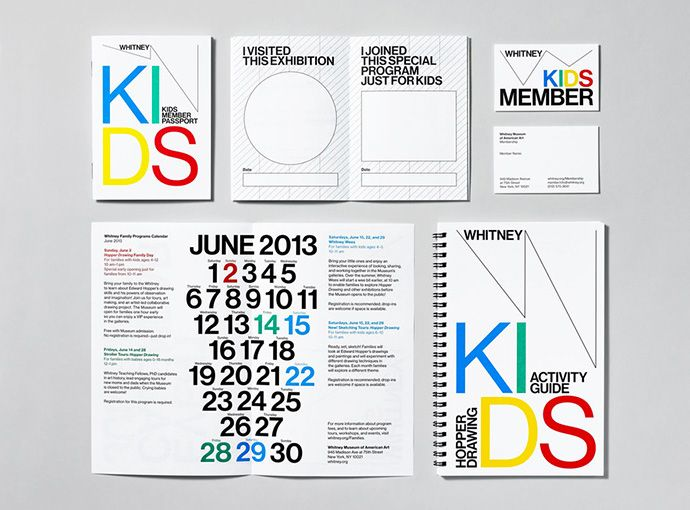 Creative identity work by Experimental Jetset for the Whitney Museum of American Art in NYC.