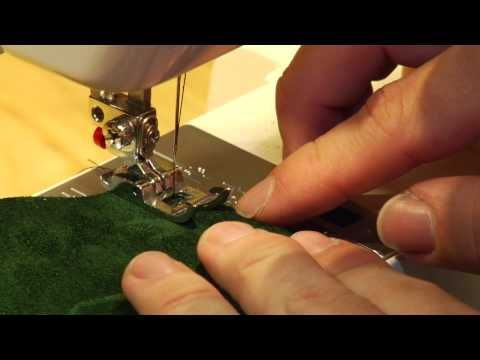 Video tutorial on machine sewing leather