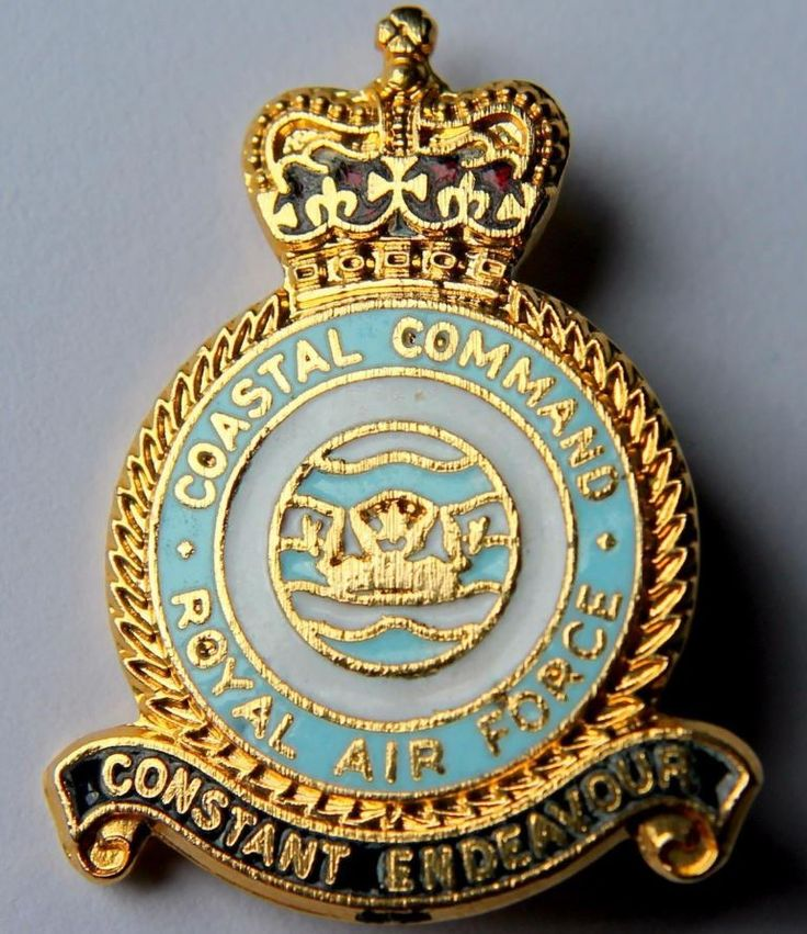 RAF Coastal Command - Enamel Brooch Badge- Royal Air Force Maritime Operations