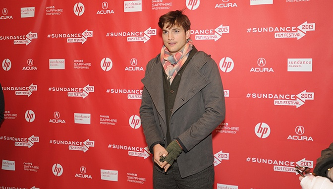 On the press line for his film quot jobs quot at the sundance film festival