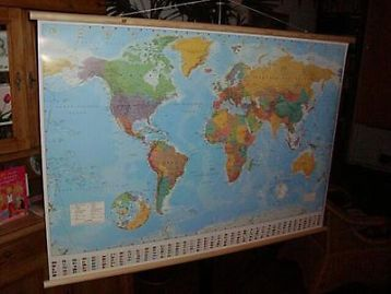 ≥ Mooie wereldkaart , wereldkaarten met vlaggen 95-60 cm - Overige Huis en Inrichting - Marktplaats.nl