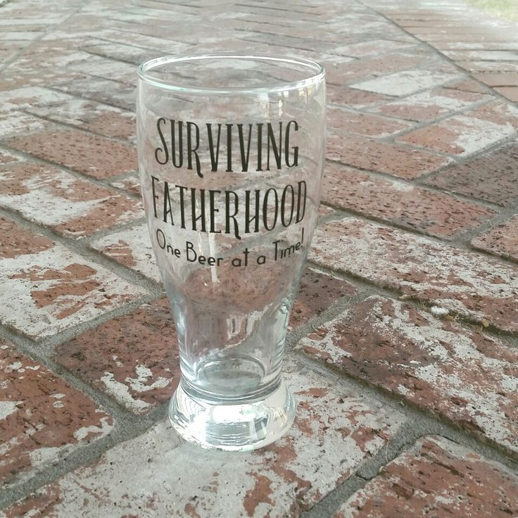 Surviving Fatherhood, One Beer at a Time! Dad's need something too, how about this custom beer glass! / Personalized beer mugs / custom beer glasses / dad life