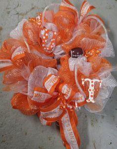 UT TENNESSEE Vols Wreath UT Football Wreath by MyADOORableWreaths