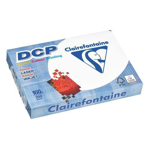 Ramette papier mat Clairefontaine DCP A4 160 gr - 250 feuilles - blanc