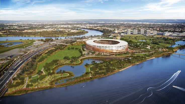 Perth Stadium, Perth. 3D visualisation by Scharp #scharp #3dvisualisation #3dvisualization #stadium