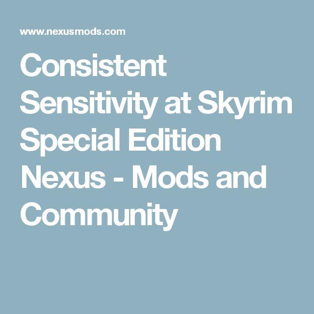 How to change sensitivity on skyrim
