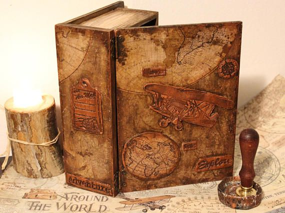 Book Box Time Traveler Adventure Vintage Style Travel