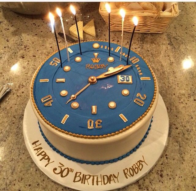 Rolex cake for my husband's 30th birthday! Watch cake for a watchmaker.