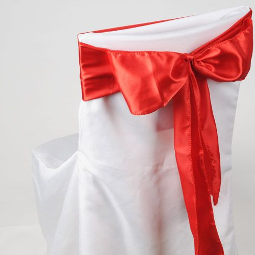 6 Inches x 106 Inches Red Satin Chair Sash  Price: $ 6.00  Wedding Party #Decorations and Business Events