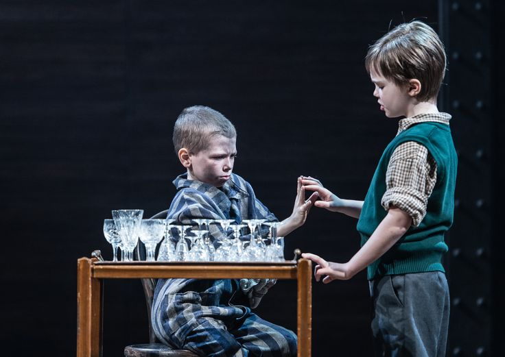 The Boy In The Striped Pyjamas | http://www.blackpoolgrand.co.uk/shows/performance/boy-in-striped-pyjamas | Colby Mulgrew as Shmuel and Jabez Cheeseman as Bruno