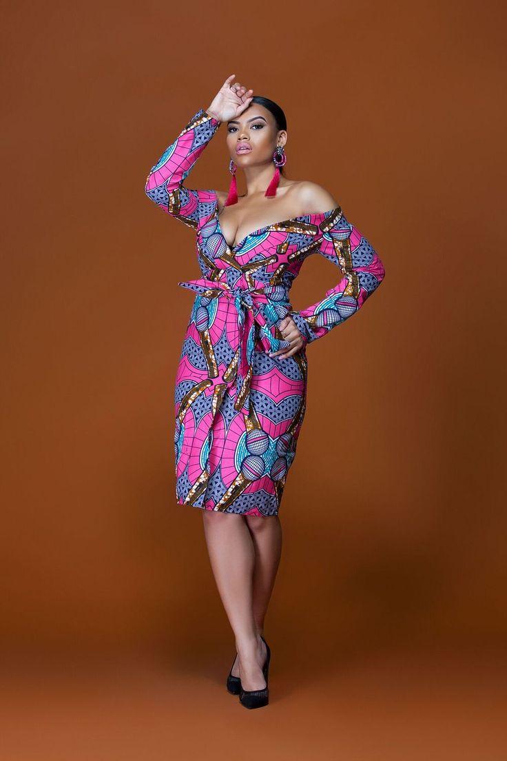 African Print Tatiana Midi Dress