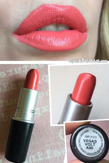 The Lipstick Database: MAC - Amplified lipstick in Vegas Volt