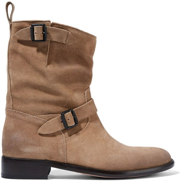 Belstaff - Bedford Suede Boots ($294) ❤ liked on Polyvore featuring shoes, boots, sand, small heel boots, low heel boots, suede boots, short heel shoes and belstaff boots