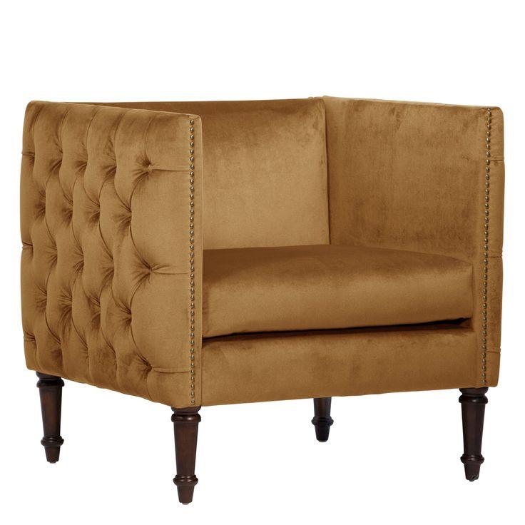 Animal Instinct Nail Button Arm Chair - 5005NB-BRMSTMCS