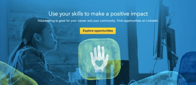 LinkedIn Expands Its Jobs Database With A New Volunteer Marketplace For Unpaid Non-Profit Work | TechCrunch