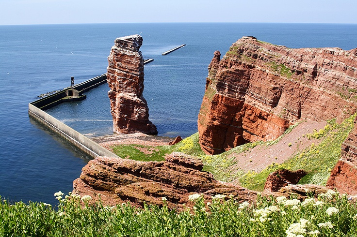 Helgoland/ Germany (north sea) we visited here took ferry boats to get there! Loved it!