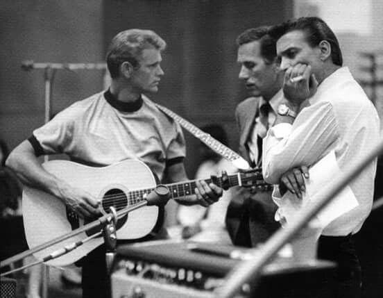 Waylon Jennings, Jerry Reed, and Chet Atkins