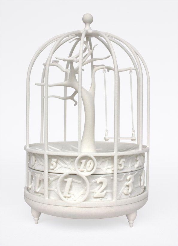 3D printed Fable mantle clock: Fable Clocks, White, 3D Prints, 3D Clocks, Birdcages Ideas, Birdcages Clocks, Design Studios, Products, Fable Mantles Clocks Gilbert13