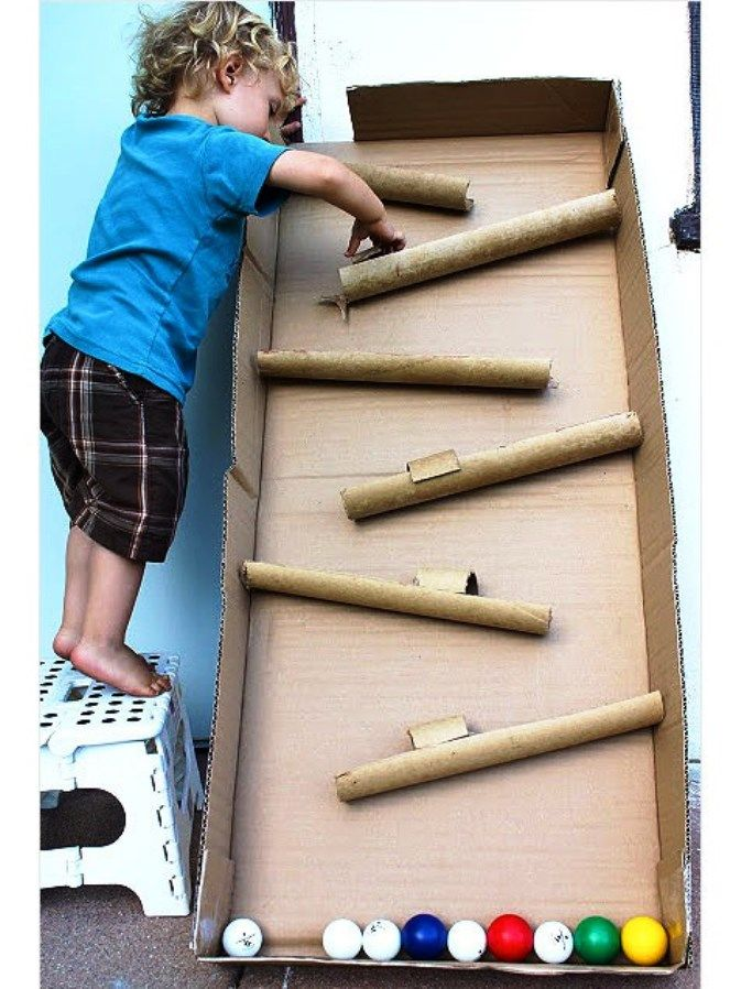 """Kids Toys Made from Cardboard Box : """"Don't just recycle those cardboard boxes and toilet paper tubes; transform them into a car wash, a castle or other cool toys and activity centers."""" See more ideas at ivillage"""