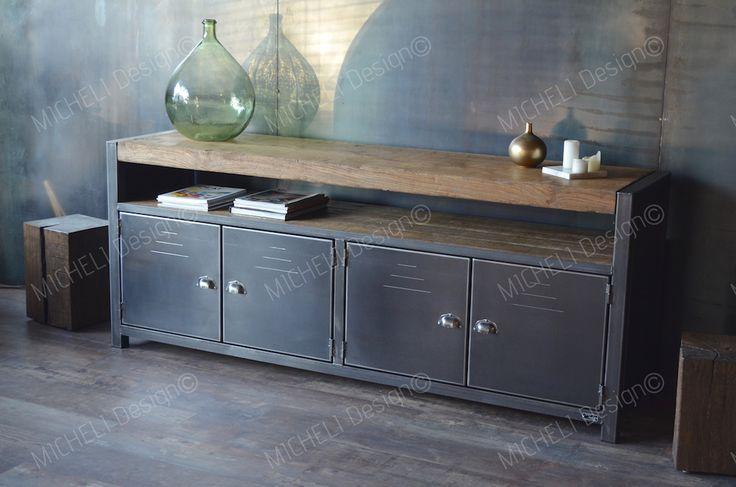 les 25 meilleures id es de la cat gorie buffet style industriel sur pinterest buffet. Black Bedroom Furniture Sets. Home Design Ideas