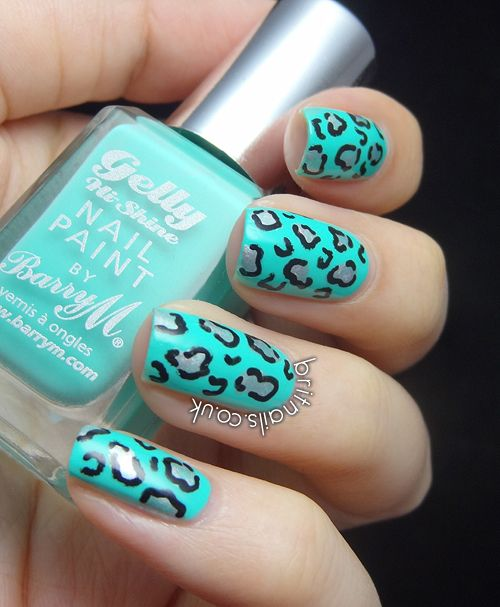 Nail Cake Blue Black Splodges Cow Print: 1000+ Images About Animal Print Nails On Pinterest