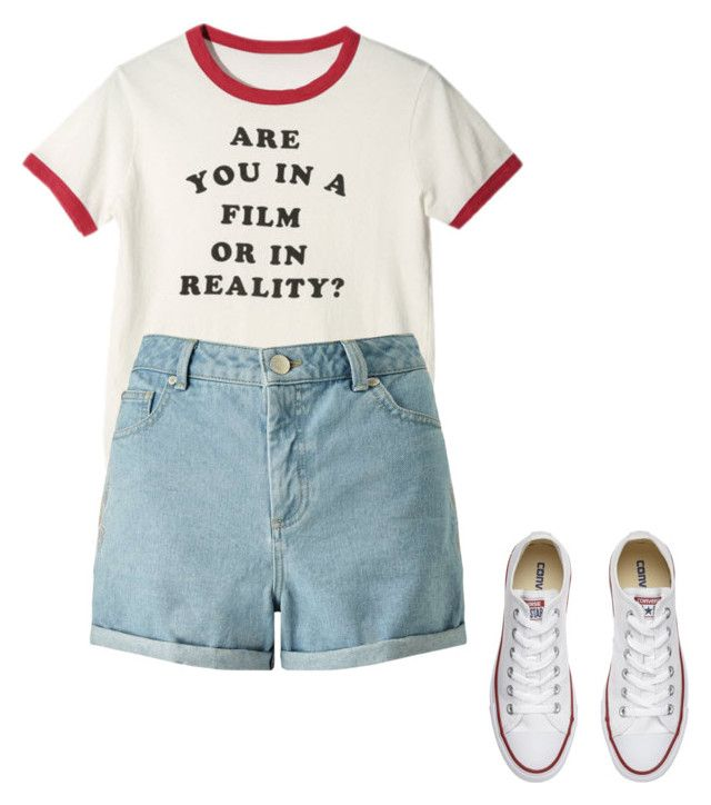 Untitled #9 by raven-blackk on Polyvore featuring Miss Selfridge and Converse