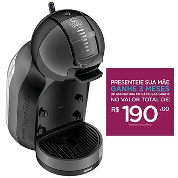 (eFácil) Cafeteira Expresso Automática Dolce Gusto Mini Me Preta 110v - Arno - de R$ 734.69 por R$ 473.89 (36% de desconto)