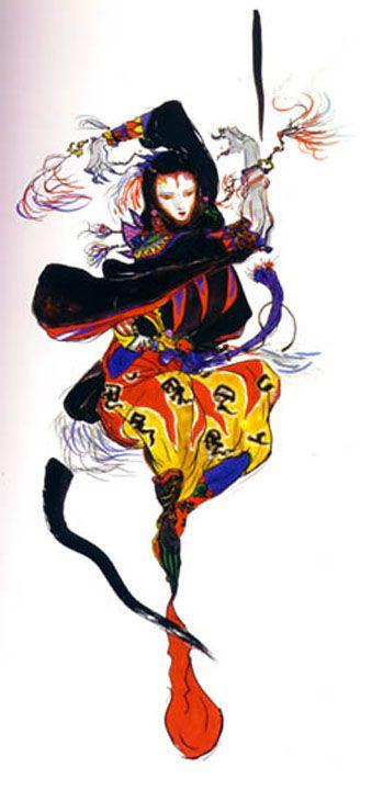 The Fool by Yoshitaka Amano http://pasteboardmasquerade.com/Reviews/amano.html