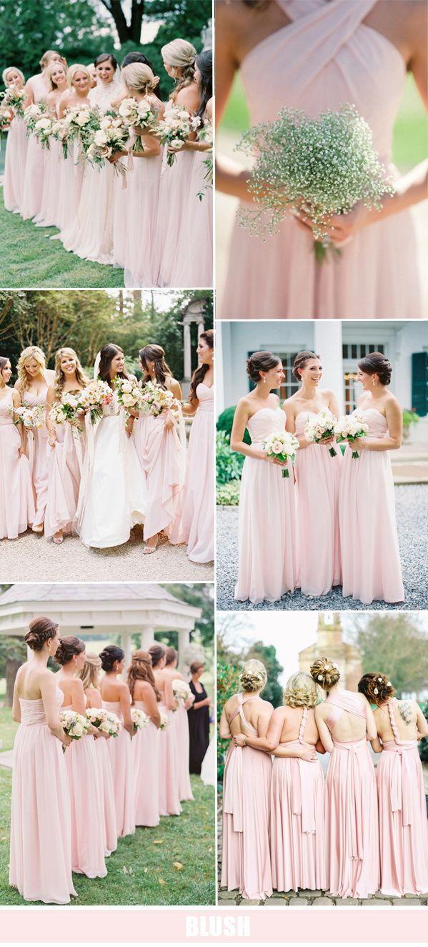 Pastel pink bridesmaid dress  Abbie Jones abbie on Pinterest