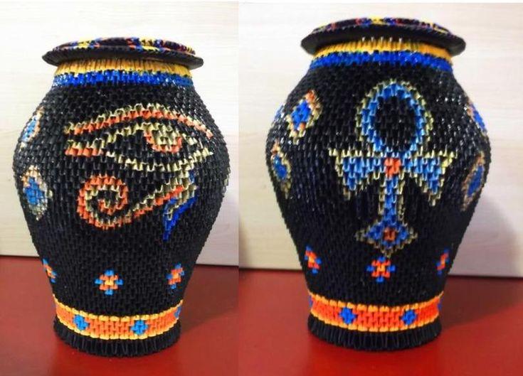 3D Origami Vase by ~OneLoneTree on deviantART