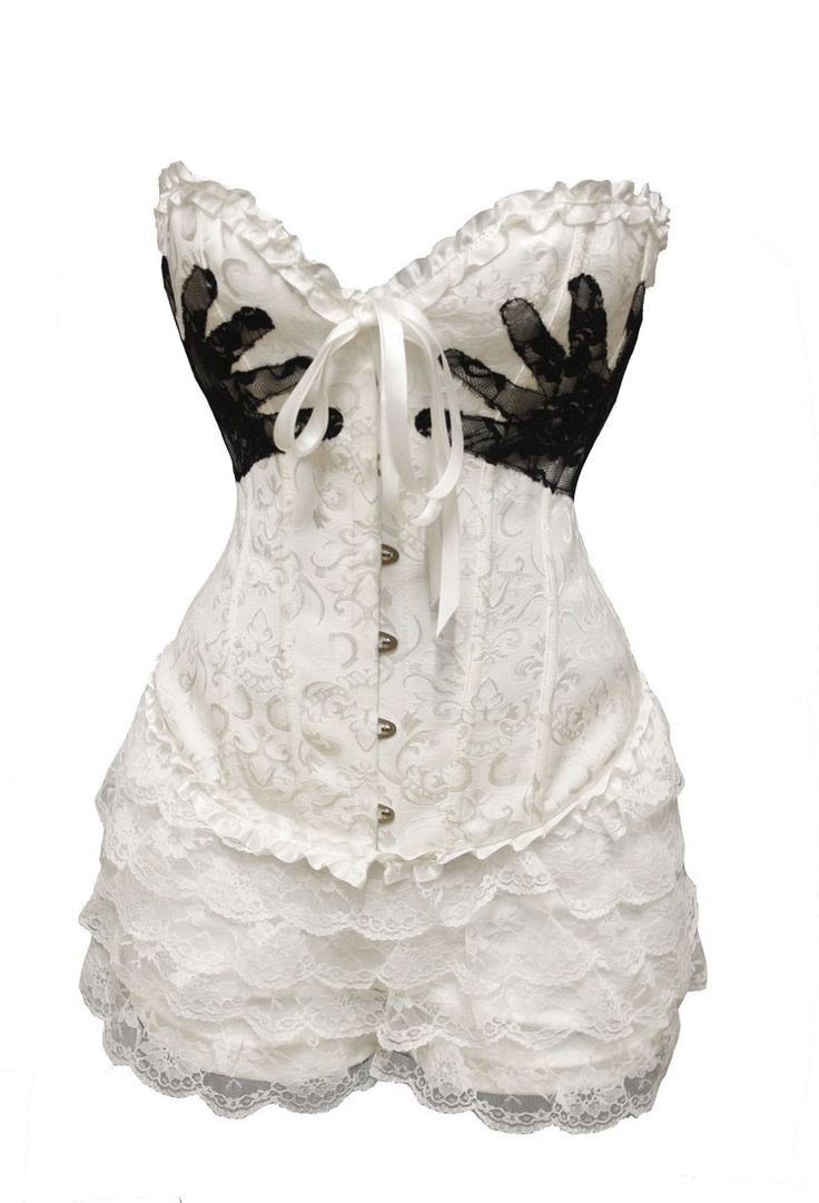 White Hand Print Corset Outfit | Carnival | Corsets