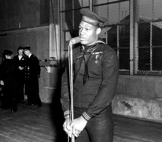 """Doris """"Dorie"""" Miller  October 12, 1919 Doris """"Dorie"""" Miller was born on this date. He was an African-American sailor and WW II hero."""