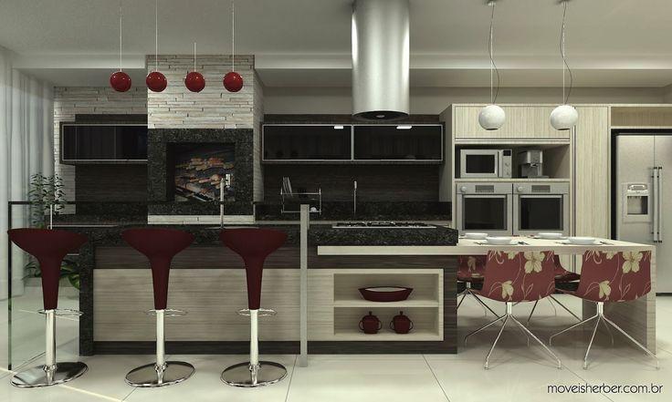 Espaços Gourmet com churrasqueiras - veja modelos e dicas!